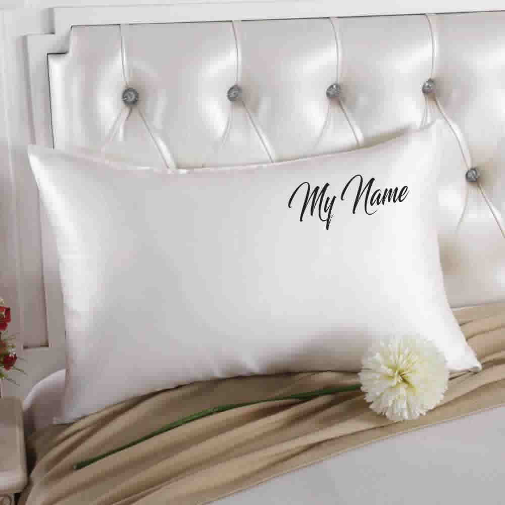 custom embroidered silk pillowcases