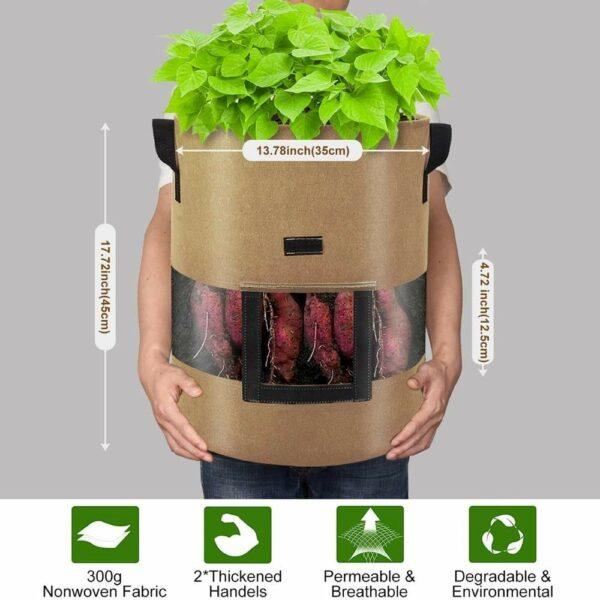 buy fabric potato planting bag online